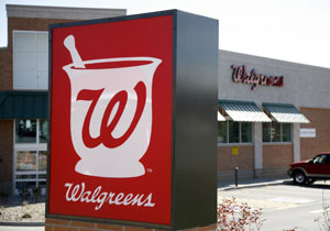 The Walgreens sign is pictured at an outlet in Westminster