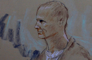 An artist's depiction shows Loughner, the Arizona man accused of shooting 20 people over the weekend, during a court appearance in Phoenix