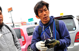 Japanese citizen in the aftermath of the tsunami