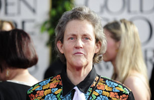 Writer Temple Grandin arrives on the red