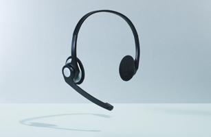 telemarketer headset