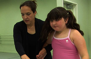 Video still of a girl doing autistic ballet