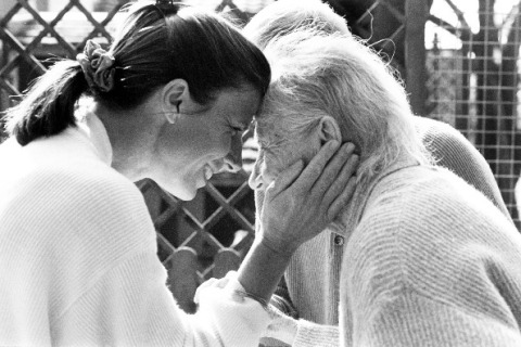 Alzheimer's patient with daughter