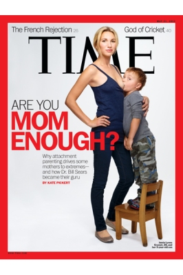 Jamie Lynne Grumet, 26, is a proponent of attachment parenting. Here she breast-feeds her son Aram, 3