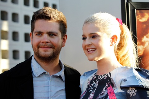 "Jack Osbourne and his sister Kelly pose at a private preview of the documentary ""God Bless Ozzy Osbourne"" in Hollywood"