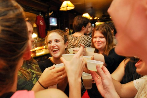 Patrons at Rulloff's, a bar in Ithaca, N.Y., September 22, 2012.