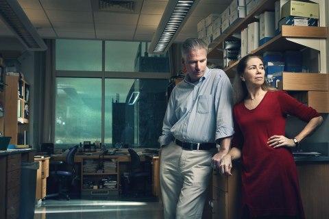 image: Nancy Spinner and her husband, Dr. Ian Krantz at the Children's Hospital of Philadelphia