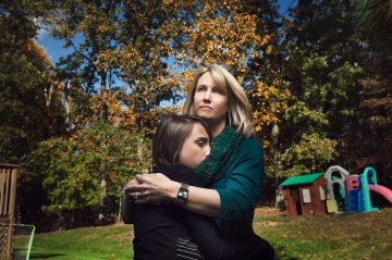 image: Laurie Hunter, a high school English teacher in N.J., learned that she had passed on a genetic mutation that heightens the risk of cancer to her daughter, Amanda.