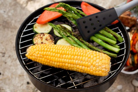 image: vegetables on grill