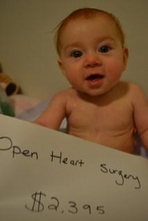 Open heart surgery: $428,903