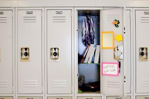 Open locker in junior high school