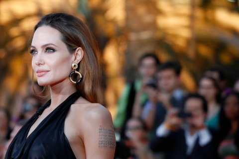 Angelina Jolie at the 18th annual Screen Actors Guild Awards in Los Angeles, on Jan. 29, 2012.