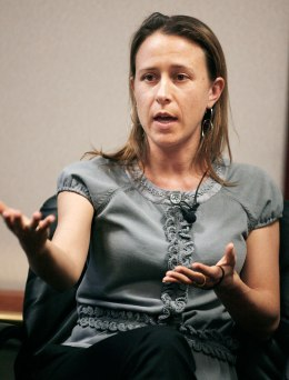 Anne Wojcicki, co-founder of 23and Me Inc. at the 2008 Milken Institute Global Conference in Beverly Hills