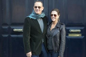 From left: Tom Hanks and Rita Wilson in Paris, on Oct. 12, 2013.