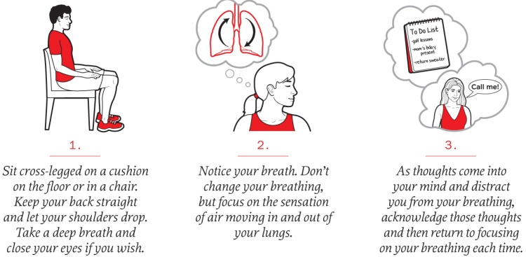 Meditation tips: sit cross-legged, notice your breath