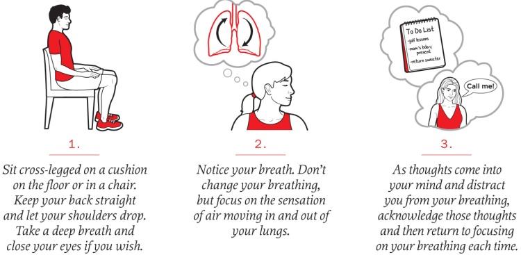Meditation tips: sit cross-legged, notice your breath