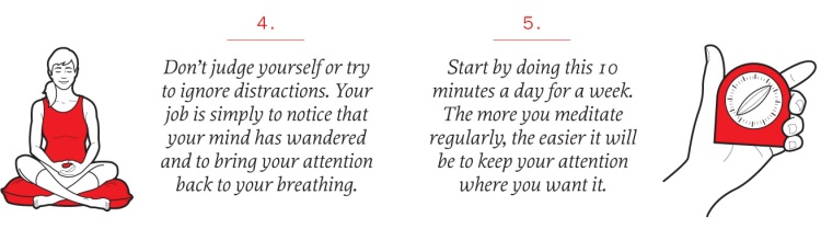 Meditation tips: don't judge yourself or try to ignore distractions