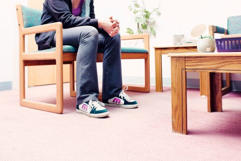 A patient waits to talk to a doctor at the Red River Women's Clinic.
